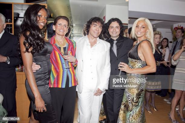 Franka Cappella Maxine Ress Georges Perez Dennis Oliver and April Rose attend RODOLFO VALENTIN'S Salon Spa Preview Party at 694 Madison Avenue on...