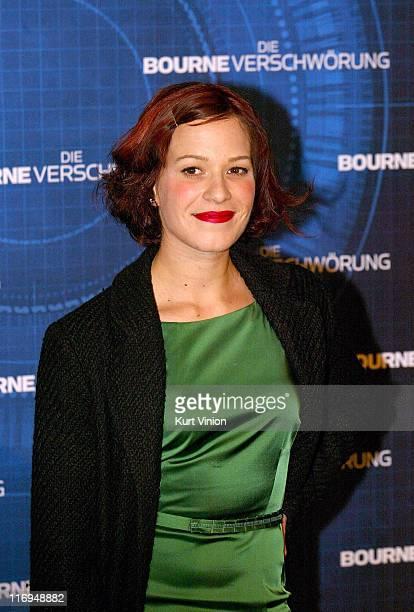 Franka Potente during The Bourne Supremacy Berlin Premiere at Sony Center in Berlin Germany
