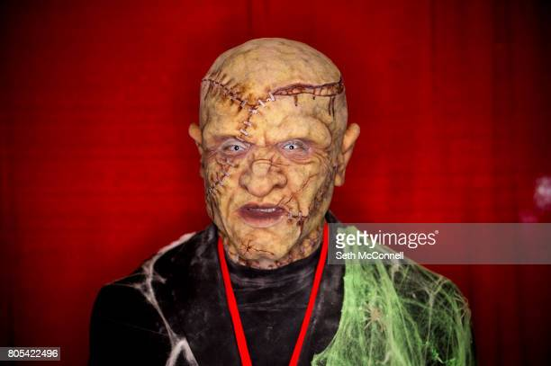 Frankenstein aka Daniel Angeiano poses for a portrait during Denver Comic Con at the Colorado Convention Center on July 1 in Denver Colorado