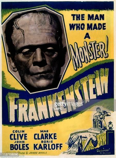 Frankenstein, poster, Boris Karloff, 1931.