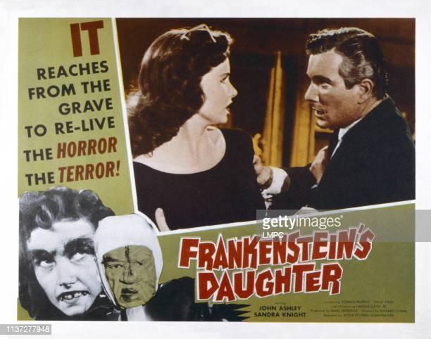 Frankenstein's Daughter US lobbycard top from left Sandra Knight Donald Murphy bottom from left Sandra Knight Harry Wilson 1958