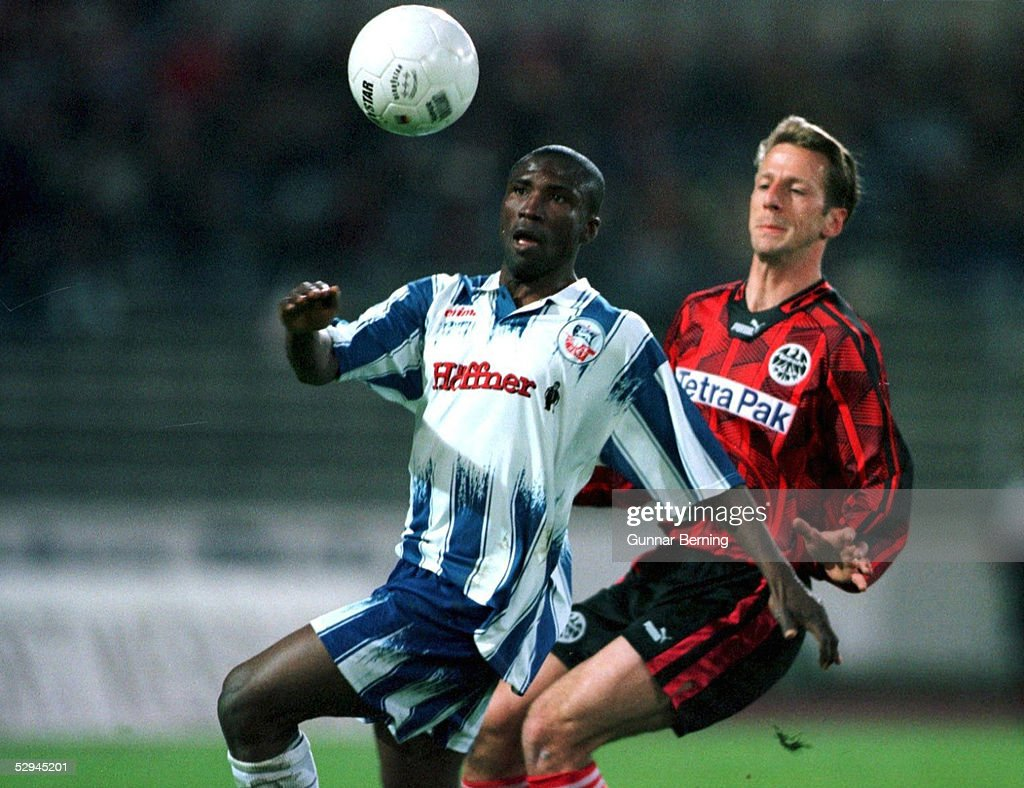 FUSSBALL: 1. BUNDESLIGA 95/96, EINTRACHT FRANKFURT : News Photo
