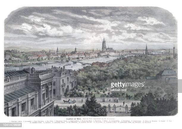 Frankfurt 1860. Nach der Natur aufgenommen von W. Klusmeyer, Frankfurt 1860