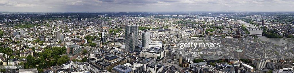 Schillerpassage Frankfurt frankfurt aerial panorama cityscape borse zeil romerburg river