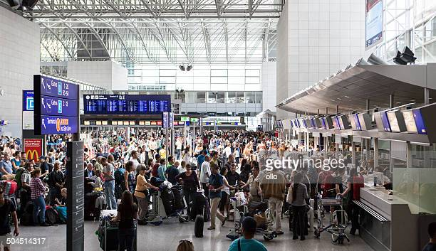 Frankfurt Airport during summer vacation season