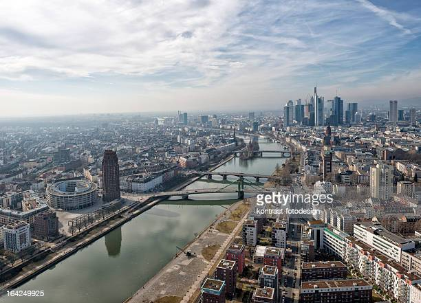 frankfurt am main, aerial view - frankfurt main stock pictures, royalty-free photos & images