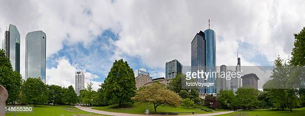Frankfurt am Main Bankenviertel downtown banking finance business skyscrapers Germany