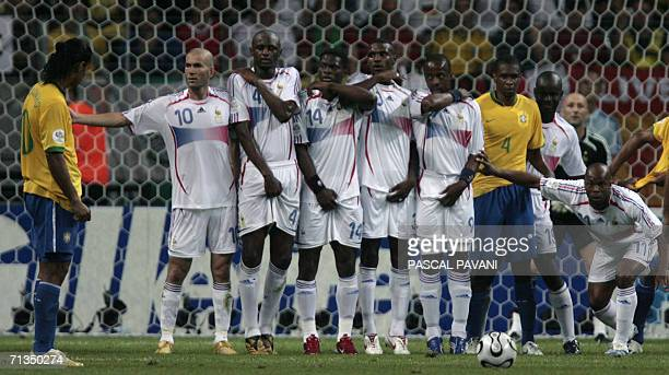Brazilian midfielder Ronaldinho French midfielder Zinedine Zidane French midfielder Patrick Vieira French forward Louis Saha French defender Eric...