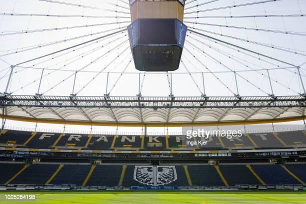 Frankfurt am Main Germany The stadium of the DFBCup final winner Eintracht Frankfurt on August 29 2018 in Frankfurt am Main Germany Giffey is on a...