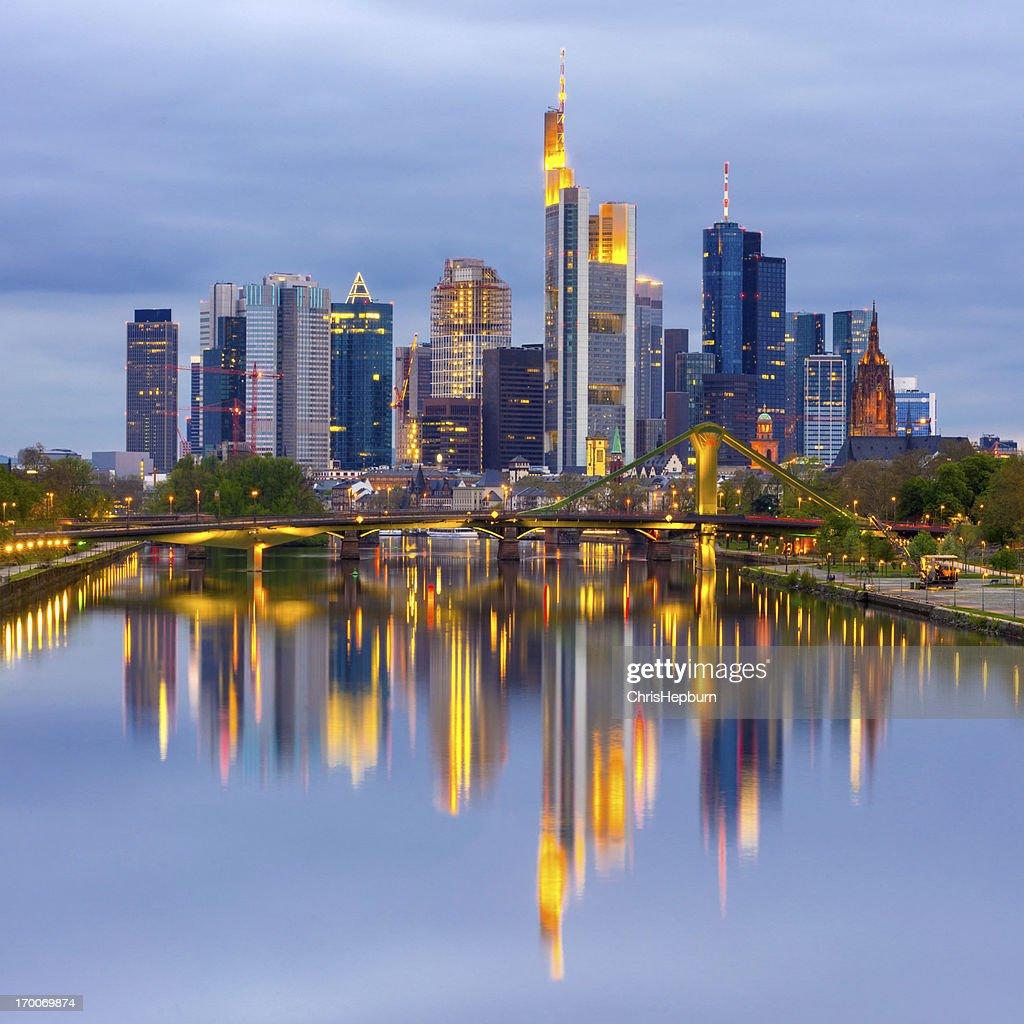 Frankfurt Am Main Skyline Germany Stock Photo