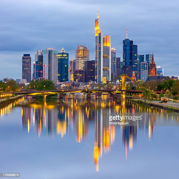 frankfurt am main skyline, germany - frankfurt main stock pictures, royalty-free photos & images