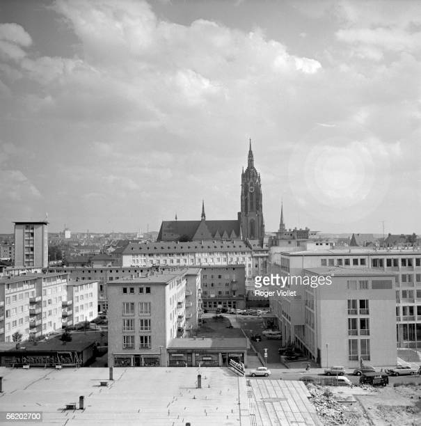 Frankfurt am Main View taken of the roof of Kaufhaus Hausa about the cathedral May 1957