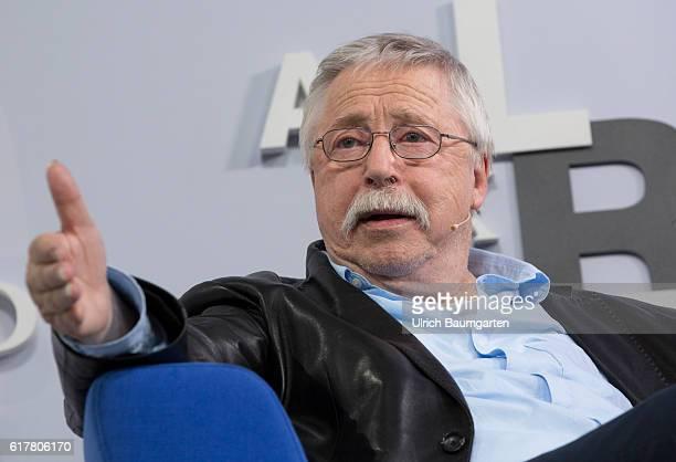 Frankfurt Book Fair 2016. Wolf Biermann, German songwriter and lyricist, during his book presentation.