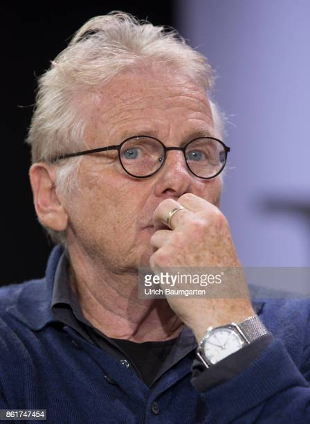 Frankfurt Book Fair 2017 Daniel CohnBendit GermanFrench author and politician during an interview