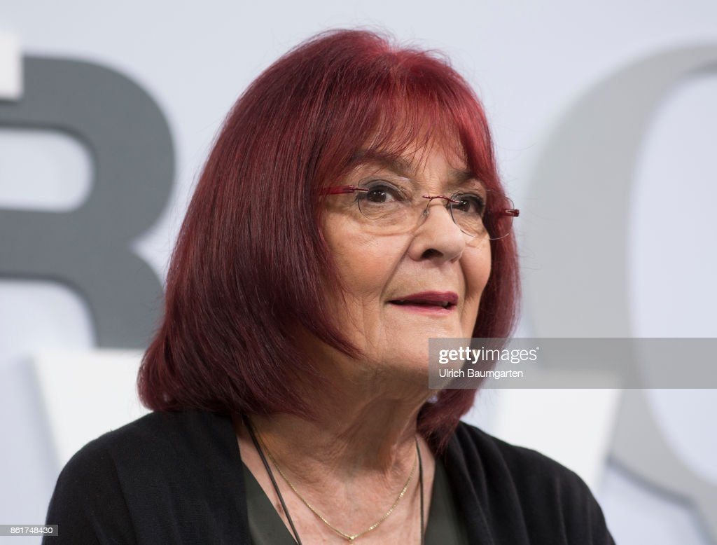 Frankfurt Book Fair 2017. Eva Demski, German writer (female). : News Photo