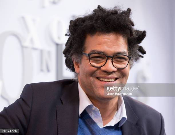 Frankfurt Book Fair 2017 Ijoma Mangold German literary critic and author during an interview