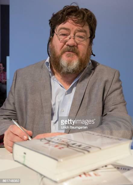 Frankfurt Book Fair 2017 John Burnside Scottish writer signed his books