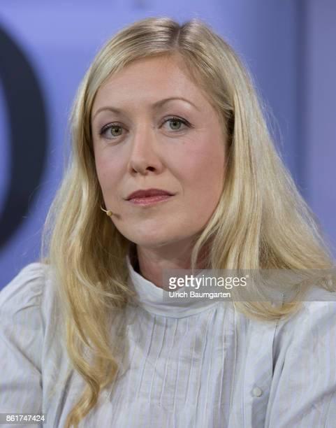 Frankfurt Book Fair 2017 Julia Amalia Heyer German journalist and author during an interview