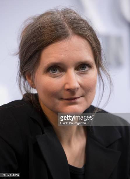 Frankfurt Book Fair 2017 Marion Poschmann German writer during an interview