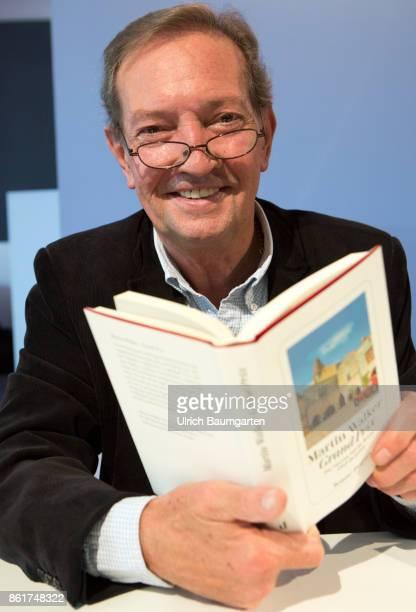 Frankfurt Book Fair 2017 Martin Walker Scottish writer and journalist with his book