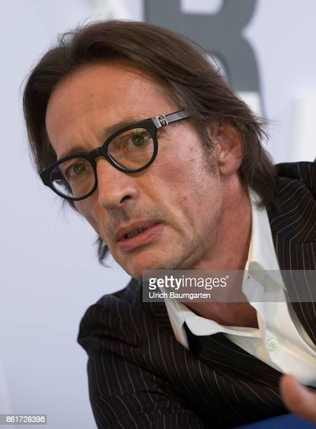 Frankfurt Book Fair 2017 Oskar Roehler German author journalist and film director during an interview