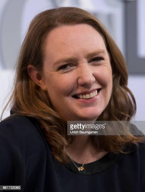 Frankfurt Book Fair 2017 Paula Hawkins British writer during an interview