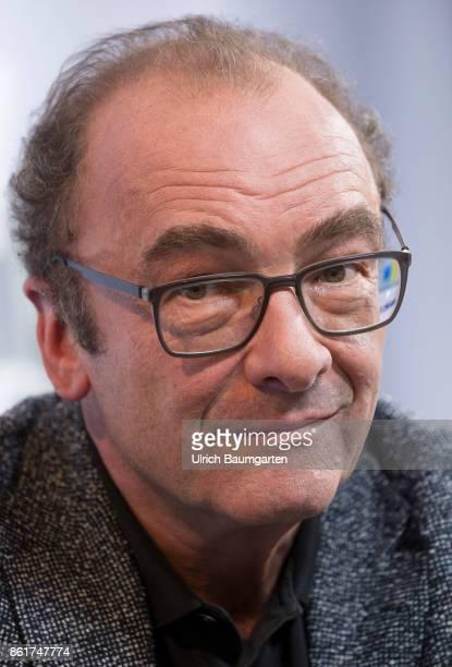 Frankfurt Book Fair 2017 Robert Menasse Austrian writer during an interview