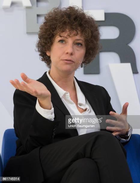 Frankfurt Book Fair 2017 Sasha Marianna Salzmann German writer during an interview
