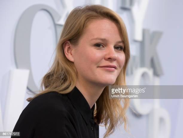 Frankfurt Book Fair 2017 Theresia Enzensberger German journalist and author during an interview