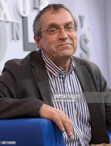 Frankfurt Book Fair 2017 Thomas Macho Austrian philosopher and author during an interview