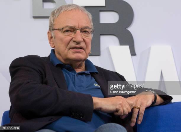 Frankfurt Book Fair 2017 Uwe Timm German writer during an interview