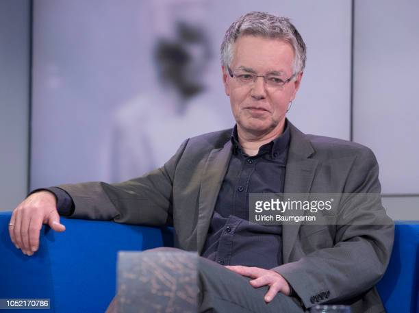Frankfurt Book Fair 2018 Martin Seel German philosopher university teacher and author during an interview