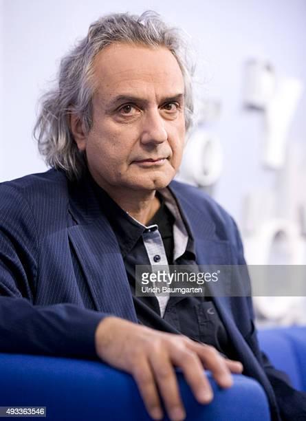 Frankfurt Book Fair Friedrich Ani during an interview with book launch