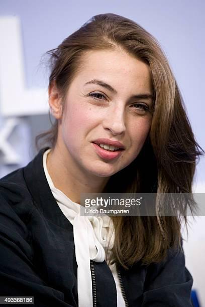 Frankfurt Book Fair Kat Kaufmann during an interview with book launch