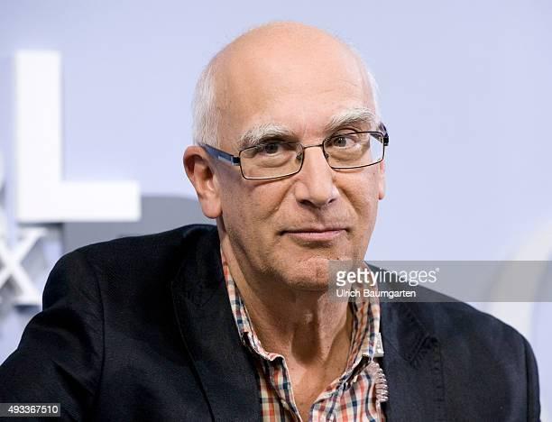 Frankfurt Book Fair Péter Gárdos Hungarian writer during an interview with book launch
