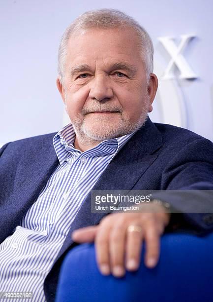 Frankfurt Book Fair Rüdiger Safranski during an interview with book launch