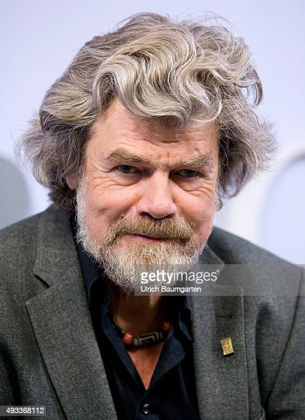 Frankfurt Book Fair Reinhold Messner during an interview with book launch