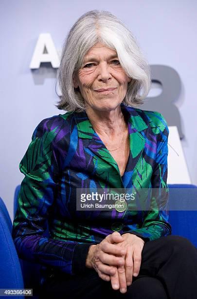 Frankfurt Book FairAnna Enquist Dutch writer during an interview with book launch