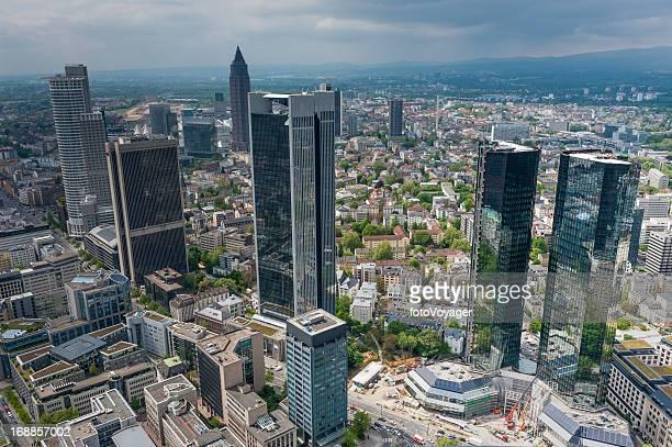 Luftbild der Innenstadt Wolkenkratzer von Frankfurt