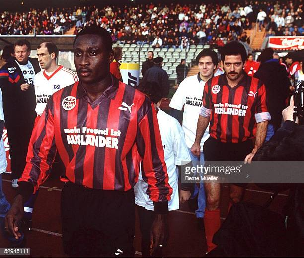 1 BUNDESLIGA 95/96 Frankfurt EINTRACHT FRANKFURT HAMBURGER SV Anthony YEBOAH Uwe BEIN/FRANKFURT
