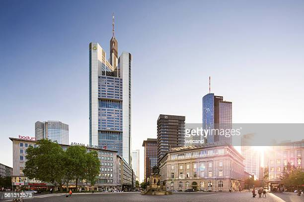 frankfurt goetheplatz - bank financial building stock pictures, royalty-free photos & images