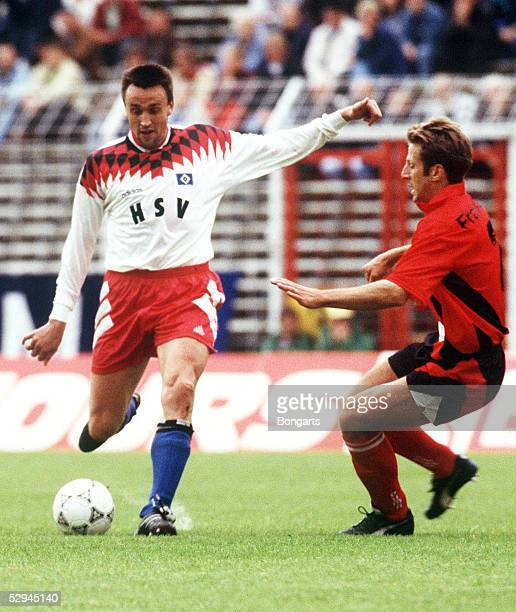 1 BUNDESLIGA 94/95 Frankfurt HAMBURGER SV EINTRACHT FRANKFURT 31 Valdas IVANAUSKAS/HSV Uwe BINDEWALD/FRANKFURT