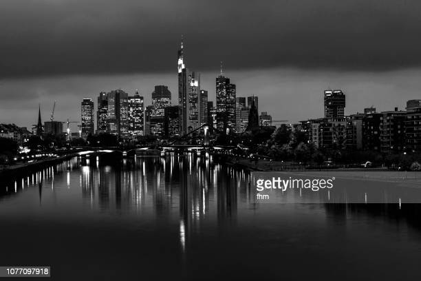 frankfurt/ main skyline (hesse, germany) - great recession stock pictures, royalty-free photos & images