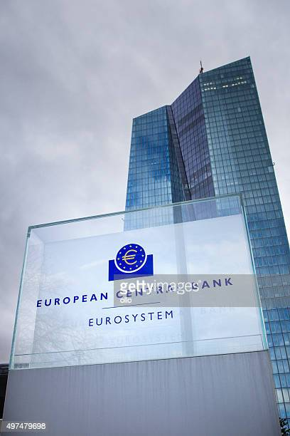 ecb frankfurt - seat of the european central bank stock photos and pictures