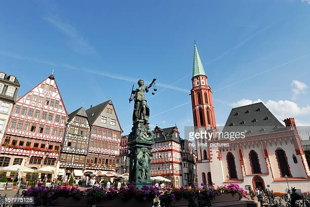 frankfurt roemer square - st nicholas' church stock pictures, royalty-free photos & images