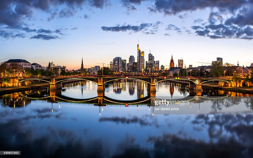 Frankfurt, Skyline, Large Panorama, Hessen, Germany : Stock Photo