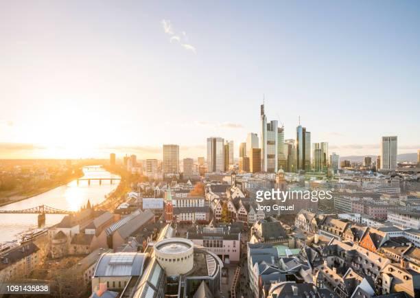 frankfurt skyline - frankfurt main bildbanksfoton och bilder