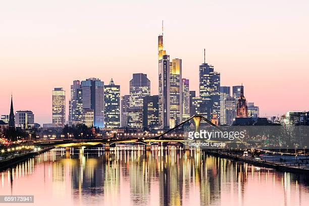 frankfurt skyline - hesse germany stock pictures, royalty-free photos & images