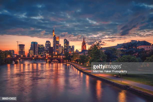 frankfurt skyline - frankfurt main stock pictures, royalty-free photos & images