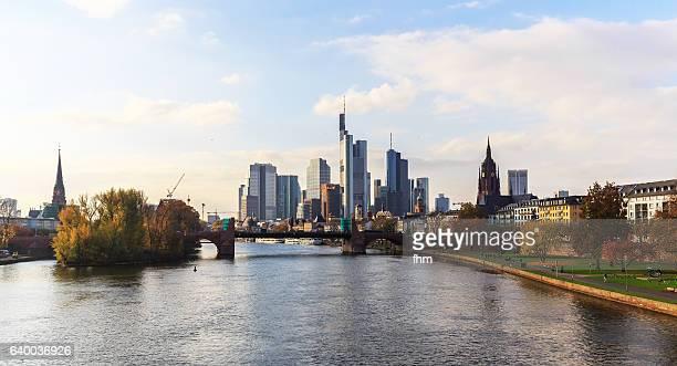 Frankfurt skyline with Main River (Hessen/ Germany)